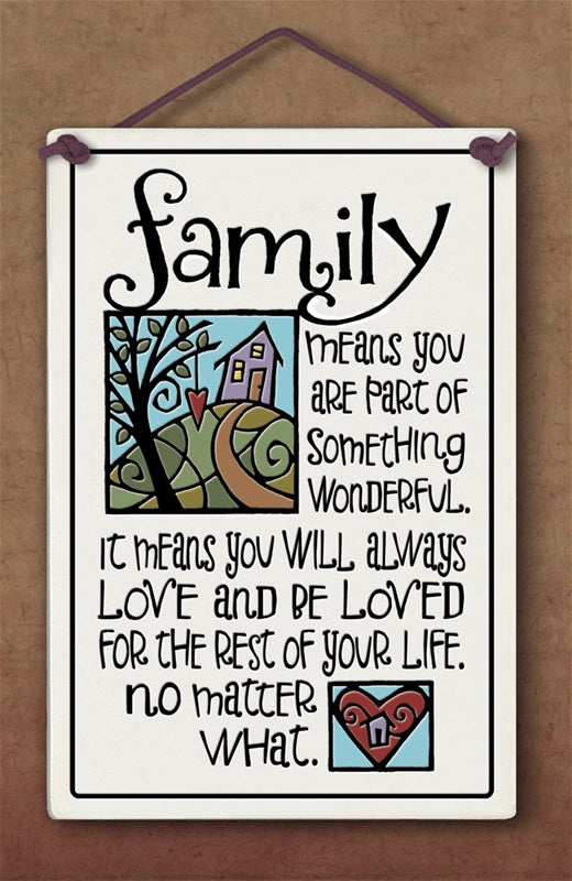 Family Plaque - Many Hearts One Beat