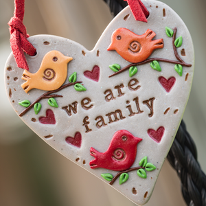 We Are Family Ornament - Many Hearts One Beat