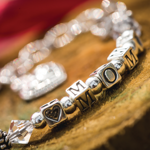 Sterling Mom Bracelet - Many Hearts One Beat