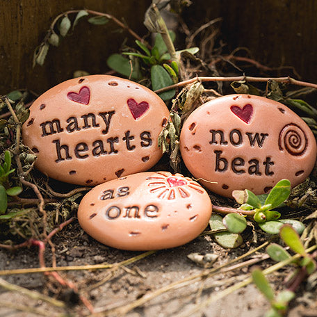 Pebbles of Inspiration - Many Hearts One Beat