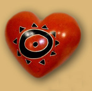 Journey Heart Paperweight - Many Hearts One Beat