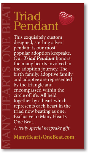 EXCLUSIVE Adoption Keepsake Triad Necklace - Many Hearts One Beat