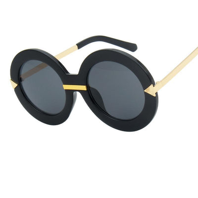 Shades-and-bikinis 2018 New Style Brand Women Round Sunglasses Women 1