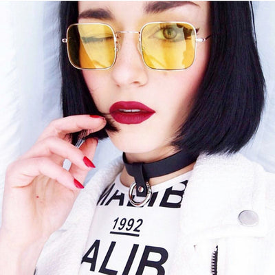 Sunglasses Women Fashion Red Yellow Blue Clear Lens Sun glasses