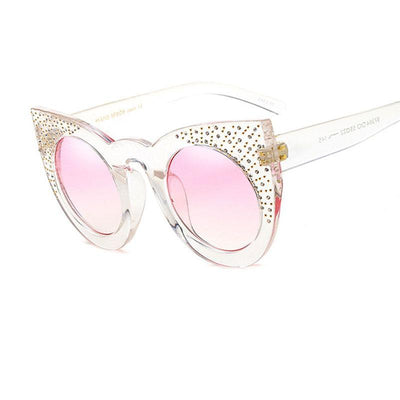 Shades-and-bikinis Newest Rhinestone Cat Eye Sunglasses Women 1
