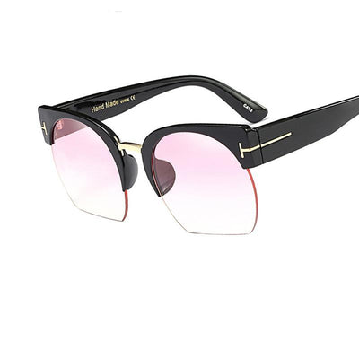 Shades-and-bikinis Newest Semi-Rimless Sunglasses Women Brand Designer 1