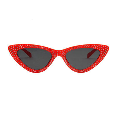 Shades-and-bikinis Rhinestone Cat Eye Sunglasses Women Small Frame 1