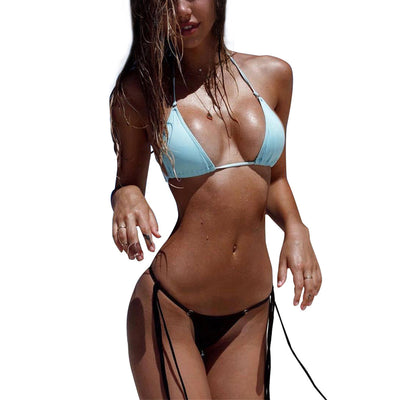 shades-and-bikinis-Sexy Women Bikins Set Beach Swimwear Strap Swimming Bathing Suits-1