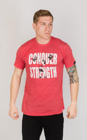 "Weightlifting and Powerlifting Clothing | ""Conquer Strength"" Tee - Load Strength Sports"