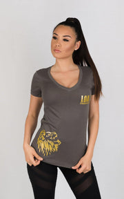 "Weightlifting and Powerlifting Clothing | ""ROAR"" V-Neck - Load Strength Sports"