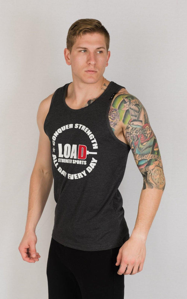 "Weightlifting and Powerlifting Clothing | ""LOAD"" Tank - Load Strength Sports"