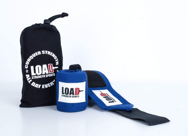 "Weightlifting and Powerlifting Clothing | The ""BASE"" Wrist Wraps - Load Strength Sports"