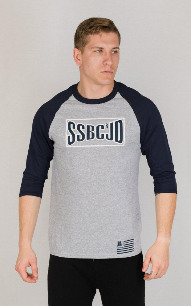 "Weightlifting and Powerlifting Clothing | ""SSBC&JD"" Baseball Tee - Load Strength Sports"