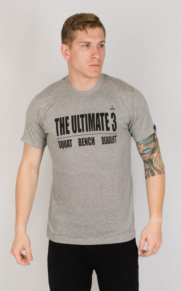 "Weightlifting and Powerlifting Clothing | ""Ultimate 3"" Tee - Load Strength Sports"