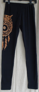 Leggings with owl and dreamcatcher