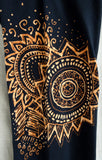 African inspired yoga pants