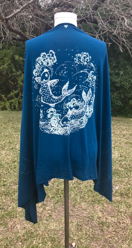 Blue Japanese Koi Wrap