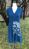 Blue Modern Mehndi Pattern Dress