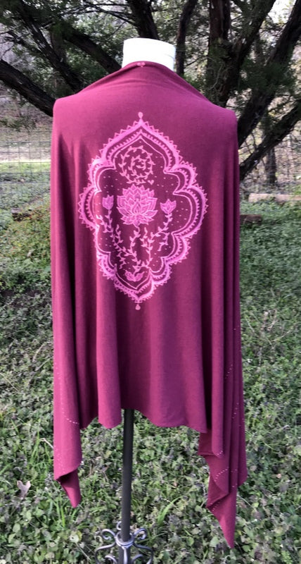 Dusty Rose Mehndi Lotus Wrap