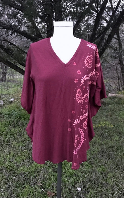 Small/Medium Dusty Rose Modern Menhdi Kaftan Top