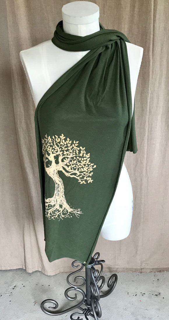 Green Tree of Life scarf