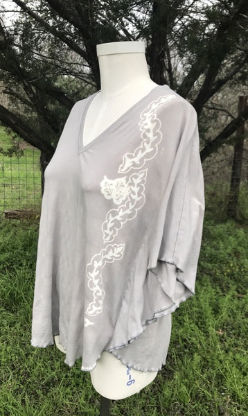 Dove Grey Kaftan Top