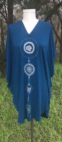 Blue Dream Catcher Kaftan Dress