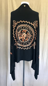 Black Bee Mandala Wrap