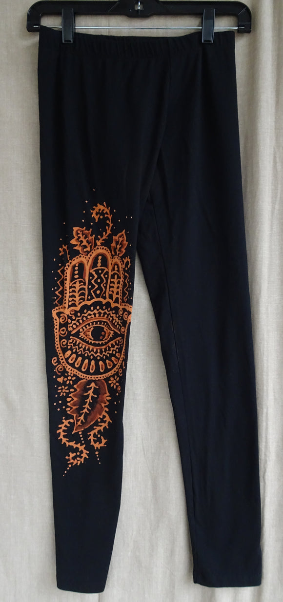 Leggings with Hamsa hands