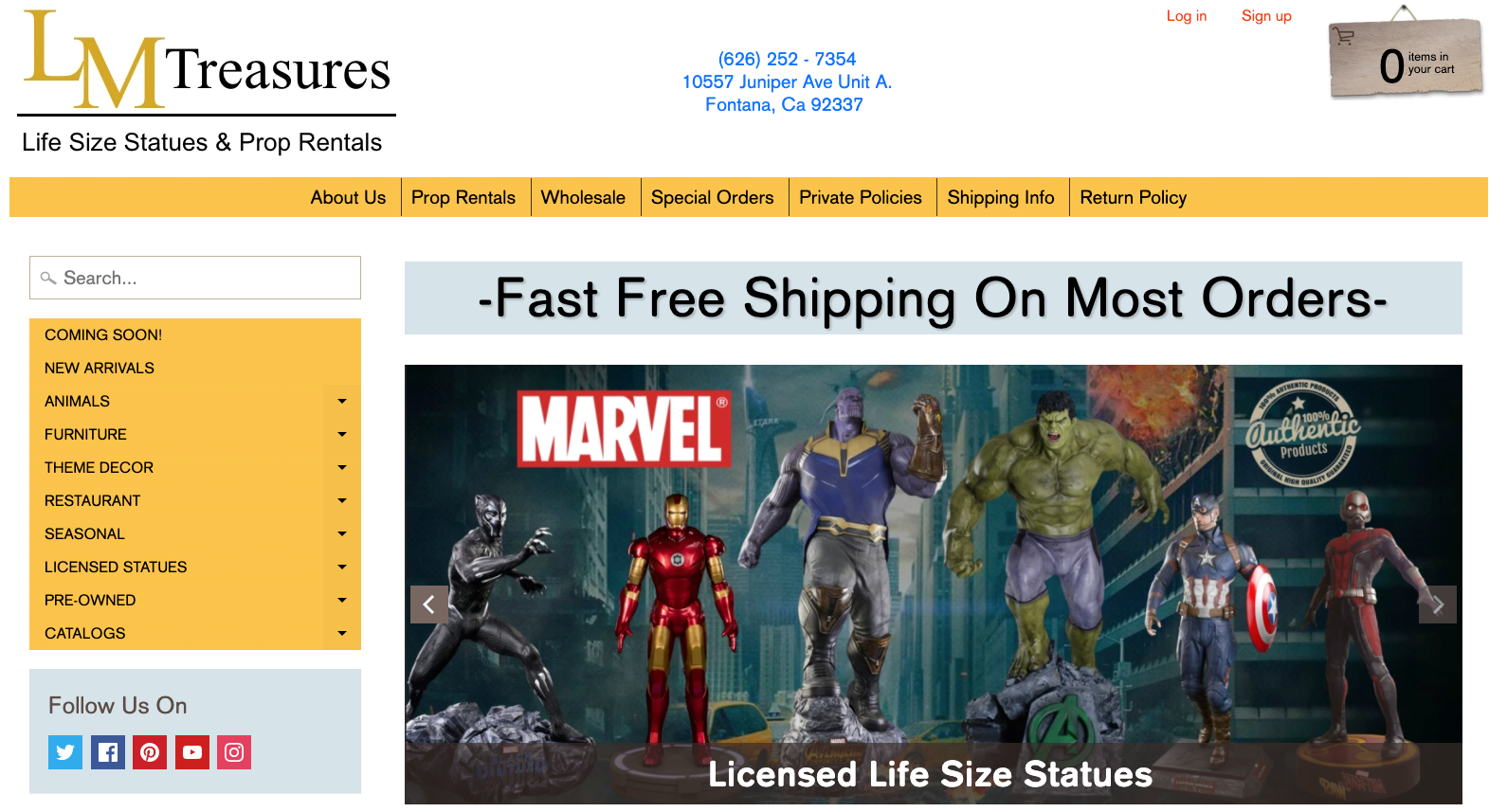 LM Treasures Life Size Statues