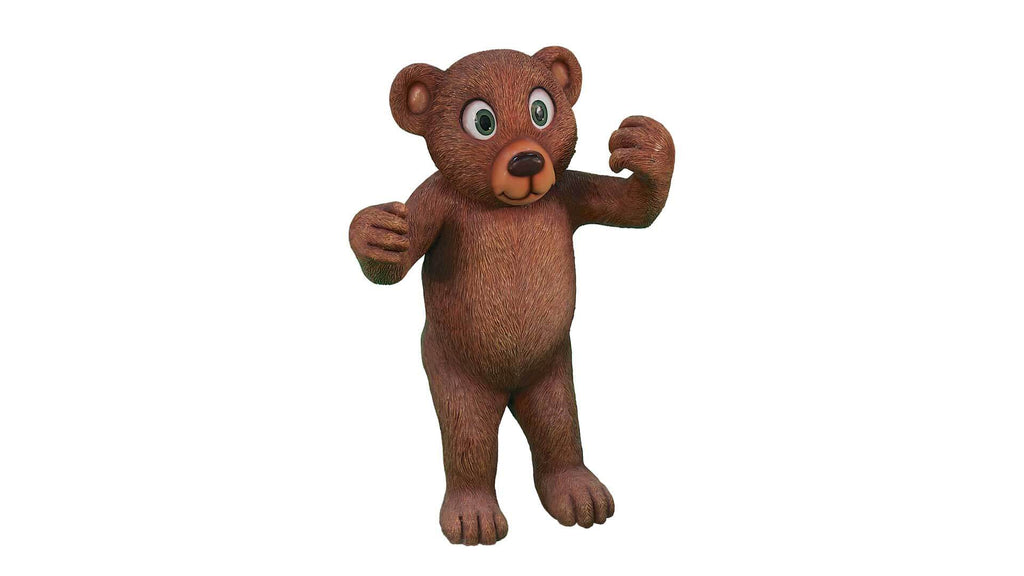 Comic Bear Teddy Standing Giant Toy Prop Decor Resin Statue - LM Treasures Prop Rentals