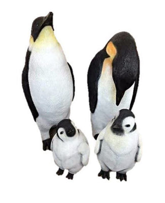 Penguin Family Bird Statue Life Size Prop Decor - LM Treasures Prop Rentals