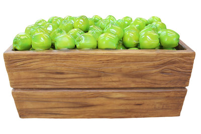Fruit Apple Green Case Full Over Sized Restaurant Prop Resin Statue - LM Prop Rentals
