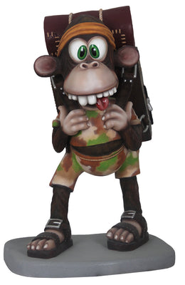 Comic Monkey Animal Prop Resin Decor Statue