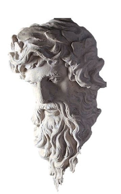 Stone Head Hercules God Greek Roman Prop Resin Decor - LM Treasures Prop Rentals