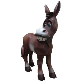 Comic Donkey Display Prop Decor Resin Statue