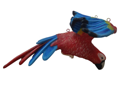 Bird Parrot Flying Red/Blue Animal Prop Life Size Resin Statue - LM Prop Rentals