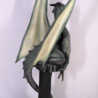 Green Dragon On Post Life Size Statue