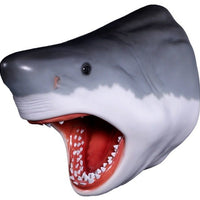 Shark Great White Head # 3 Wall Decor Sea Prop Resin Statue - LM Treasures Prop Rentals