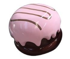 Chocolate Candy Truffle Mallow Mini Pink Over sized Display Resin Prop Decor Statue - LM Prop Rentals