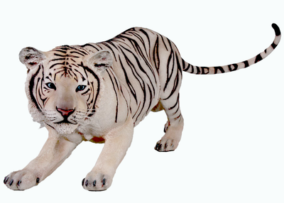Crouching Siberian Tiger Life Size Statue