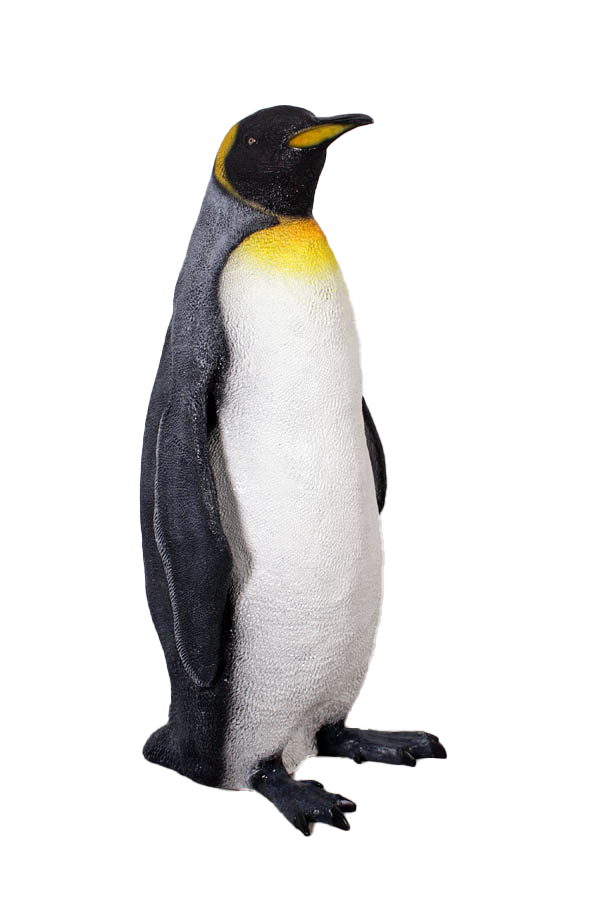 King Penguin Life Size Statue Prop