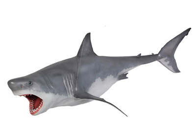 Great White Shark Life Size Statue