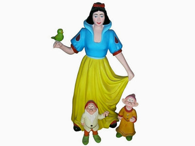 Cartoon Celebrity Princess & Dwarfs Movie Hollywood Prop Decor Statue