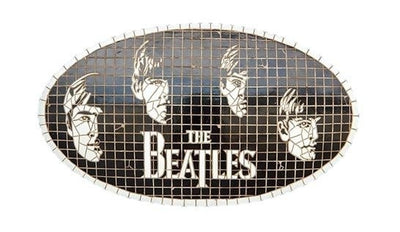 Sign British Beatle # 2 Legend Looks Like Mosaic Wall Plaque Decor - LM Prop Rentals