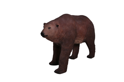 Brown Grizzly Bear Walking Life Size Prop Resin Statue