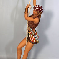 Pirate Lady Hanging In Skirt Life Size Statue