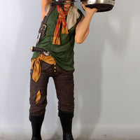 Pirate Holding Bucket Life Size Statue