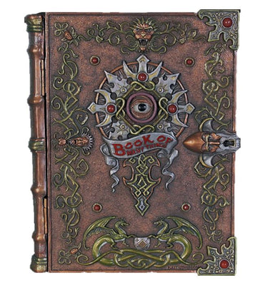 Magic Book Mythical Storage Container Prop Resin Decor - LM Treasures Prop Rentals