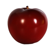 Small Red Apple Over Sized Statue